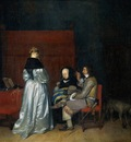 Borch II Gerard ter Gallant Conversation known as The Paternal Admonition