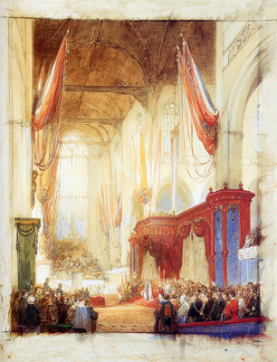 Bosboom Johannes Ascension Of King Willem Iii In Amsterdam S