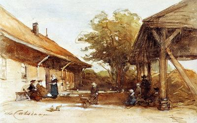Bosboom Johannes Farm De Castiaan In Scheveningen Sun