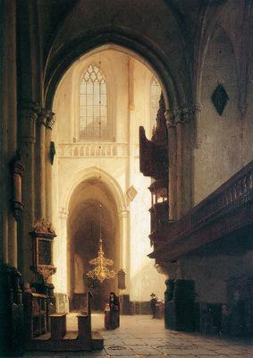 Bosboom Johannes Hooglandse Kerk Leiden Sun