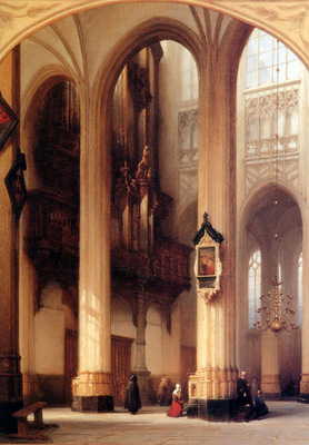 Bosboom Johannes Interior Of Sint Jan Church In Den Bosch Su