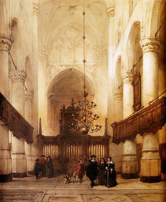 Bosboom Johannes Nieuwe Kerk In Delft Sun