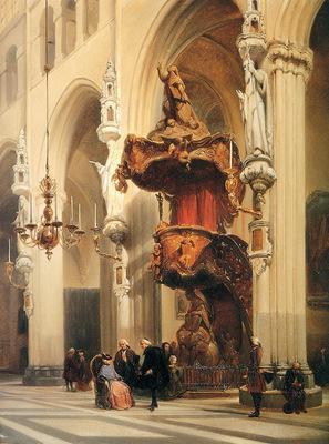 Bosboom Johannes Onze Lieve Vrouwekerk In Brugge Sun