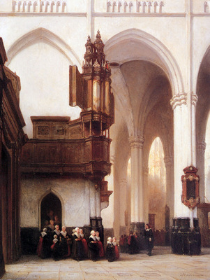 Bosboom Johannes Orphans In The Nieuwe Kerk Amsterdam Sun