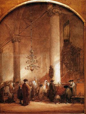 Bosboom Johannes Portugese Synagoge In Amsterdam 2 Sun