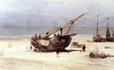 Bosboom Johannes Ships On The Beach Of Scheveningen Sun