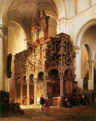 Bosboom Johannes St Nicolaeskerk In Dixmuide Sun