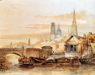 Bosboom Johannes View On Rouen Sun