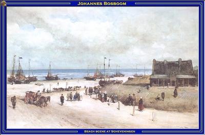 PO Vp S2 43 Bosboom Beach scene at Scheveningen