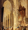 Bosboom Johannes A Church Interior With People Attending Mass