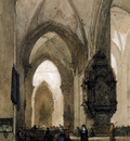 Bosboom Johannes Interior of Church in Trier Sun