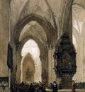 Bosboom Johannes Interior of Church in Trier Sun