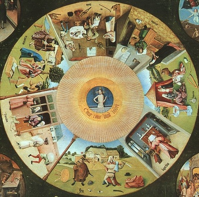 BOSCH, HIERONYMOUS TABLETOP OF THE SEVEN DEADLY SINS AND THE