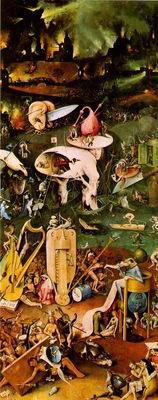 Bosch Lustarnas tradgard Right wing, Hell Prado