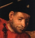 BOSCH, HIERONYMOUS HEAD OF A HALBERDIER, OIL ON PANEL