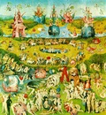 Bosch Lustarnas tradgard Central panel, Garden of Earthly D