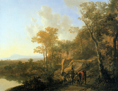 Both Jan Travellers at the edge of a forest Sun