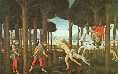 BOTTICELLI, SANDRO PANEL I OF THE STORY OF NASTAGIO DEGLI