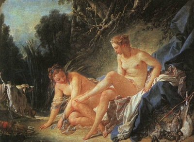 boucher diana leaving her bath,