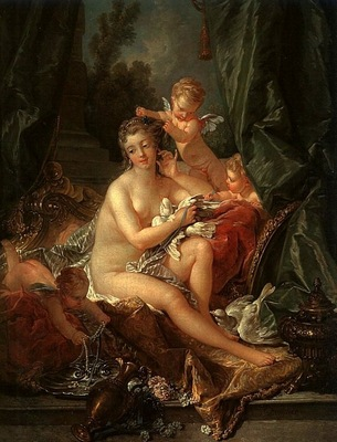 BOUCHER THE TOILET OF VENUS, 1751, OIL ON CANVAS