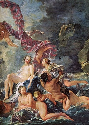 boucher the triumph of venus, detail,