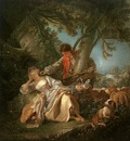 BOUCHER THE INTERRUPTED SLEEP, 1750, OIL ON CANVAS
