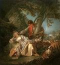 BOUCHER THE INTERRUPTED SLEEP, 1750, OIL ON CANVAS