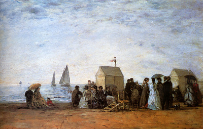 Boudin Eugene The Beach At Trouville