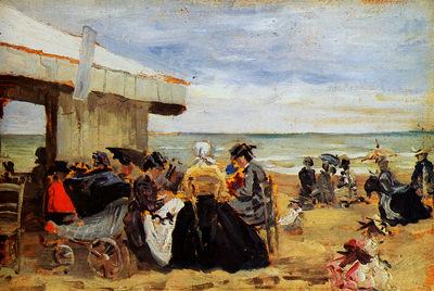 Boudin Eugne On the beach Sun