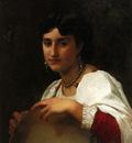 Bouguereau William L italienne au tambourin