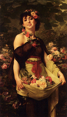 Boulanger Gustave Clarence Rodolphe The Flower Girl