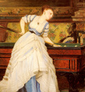 Boutibonne Charles Francois An Elegant Billiard Player