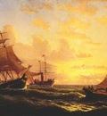 bradford sunset at sea
