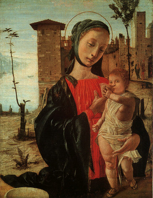Bramantino Virgin Child, oil and tempera on panel, Museum