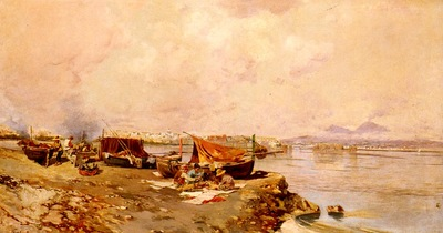 Brancaccio Carlo Fishermens Tasks In The Bay Of Naples
