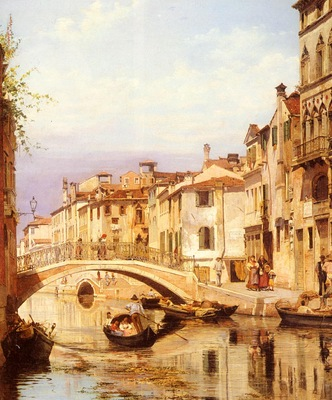 Brandeis Antonietta A Gondola On A Venetian Backwater Canal