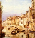 Brandeis Antonietta A Gondola On A Venetian Backwater Canal