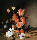 Bray de Dirck Still life with flowers Sun