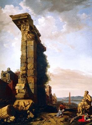 Breenberg, Bartholomeus Idealised View with Roman Ruins Sc