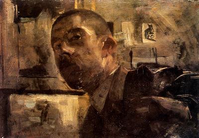 Breitner George Hendrik Self portrait Sun