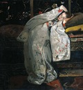 Breitner George Hendrik Girl in white kimono Sun