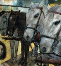 Breitner George Hendrik Tram horses on the Dam Sun