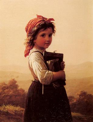 Bremen Johann Georg Meyer Von A Little Schoolgirl