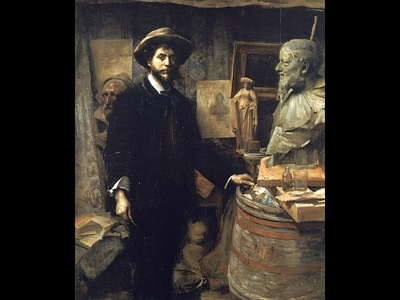 The Sculptor Jean Carries in his Atelier