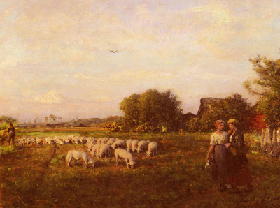 Breton Jules La Bergere