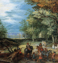 Breughel de Jan sr Waiting post in forest Sun