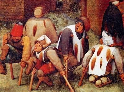 Breughel Pieter Deformed beggars Sun