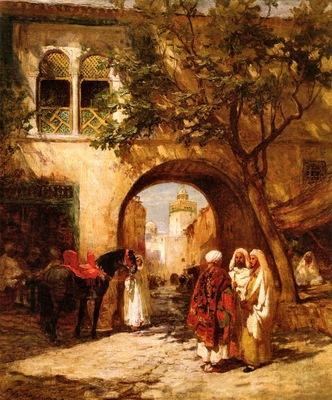 Bridgman, Frederick Arthur By the City Gate end