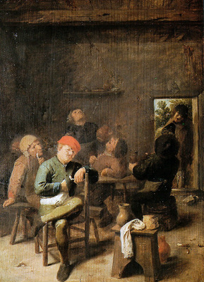 Brouwer Adriaen The village inn Sun
