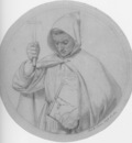 Brown Ford Madox Study of a Monk representing Catholic Faith